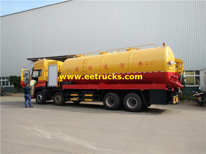 Cleaning Fecal Tank Truck