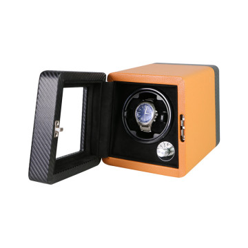 leather wooden watch winder