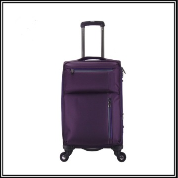 High quality nylon fabric city luggage trolley bag
