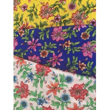 Flower Design Polyester Bubble Chiffon Printing Woven Fabric