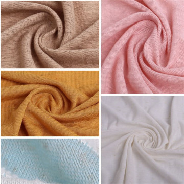 Wholesale Softly Coarse Knitting Linen Jersey Fabric