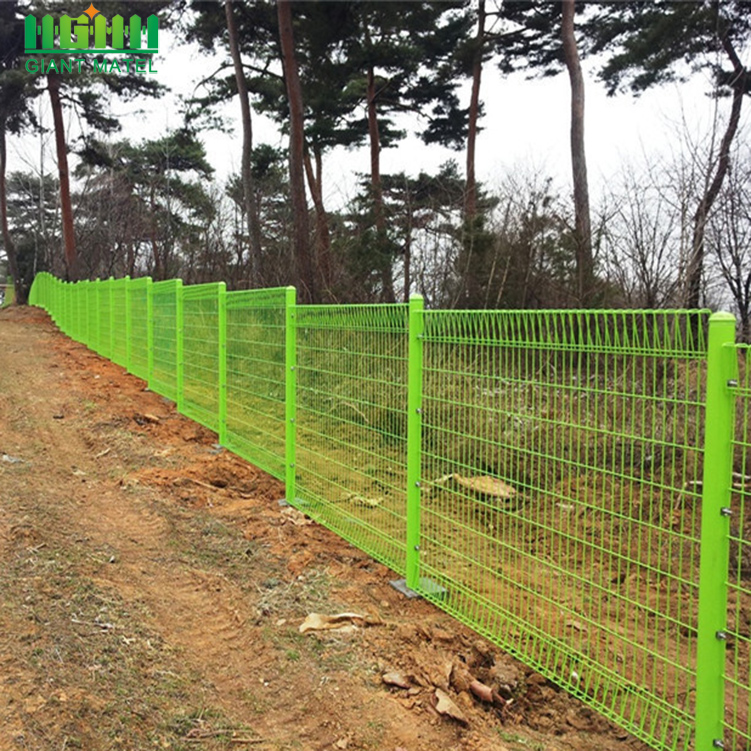 Rolled Top BRC Decorative Welded Mesh Fence