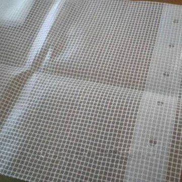 Webbing Band Reinforced Transparent Tarpaulin Fabric