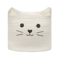 Wholesale Cosmetic Gift Stripe Cotton Rope Laundry Basket For Bathroom