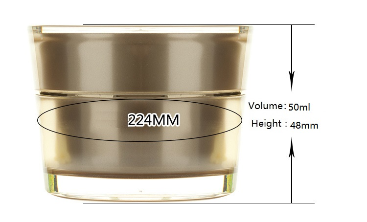 High grade Golden acrylic cosmetic Bottle and jars