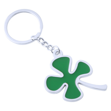 Latest Design Four-Leaf Shape Pendant Metal Key Ring