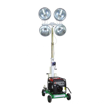 Portable diesel generator light tower hydraulic mast mobile trailer light tower FZM-1000B