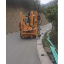 Hydraulic Hammer Driver for Highway Guardrail