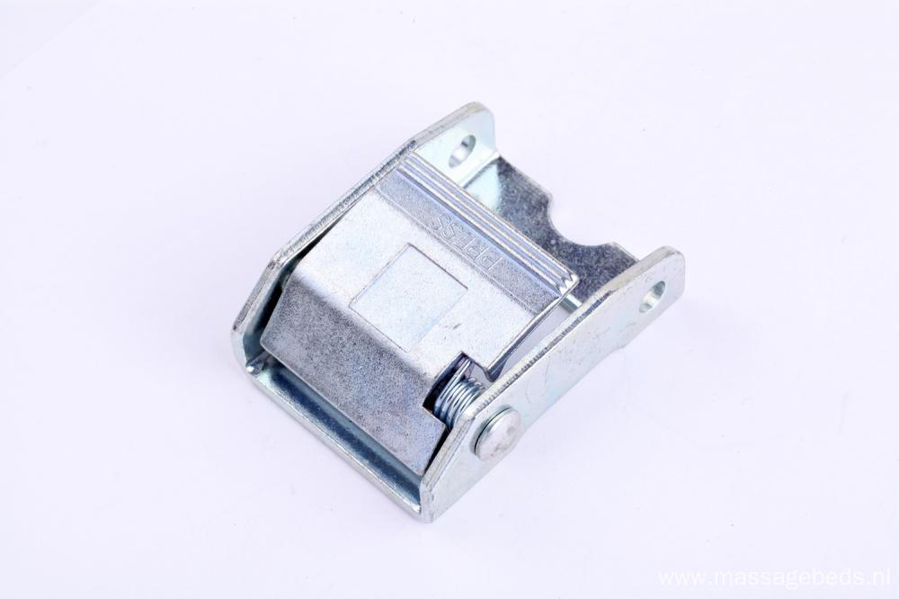 Shiny White Zinc Plated 38MM Heavy Duty Cam Strap Locking Buckle