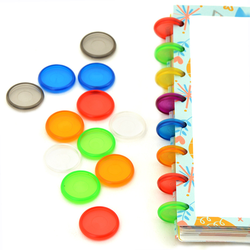 28MM Color Plastic Ring Buckle Suitable For Mushroom Hole Loose-leaf Notepad Hand Book Set DIY Binding Rings Book Accessories