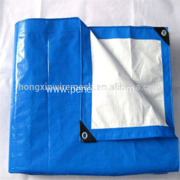 Blue White Waterproof PP PE tarpaulin