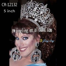 Rhinestone Beauty Queen Crowns cr-12132