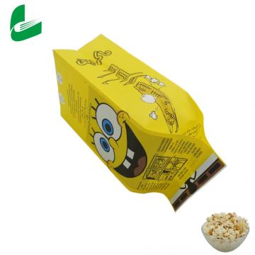 Printing custom greaseproof logo packaging paper popcorn bag
