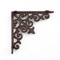 Heavy duty cast iron rustic shelf brackets
