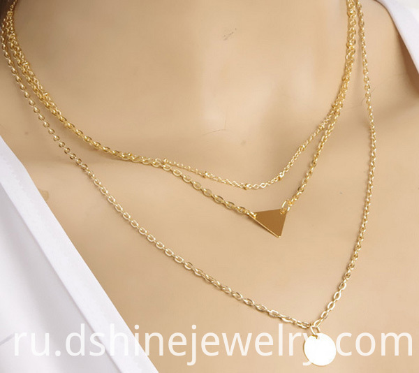 Tiny Plate Chain Necklace