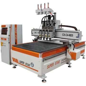 4 heads cnc carving machine Superstar