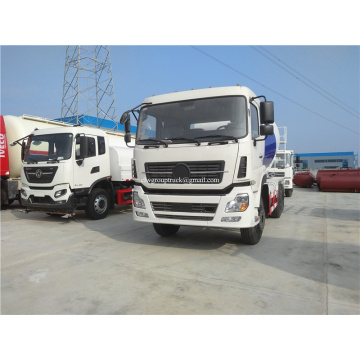 Self loading construction concrete mixer truck
