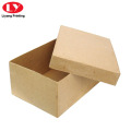 Kraft Paper Cardboard Shoe Box with Lid