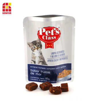 Cat Treat Food Packaging Stand-Up Pouch Aluminum Bag