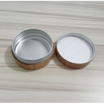 Cosmetic Bamboo Cream Jar with Aluminium Lnner