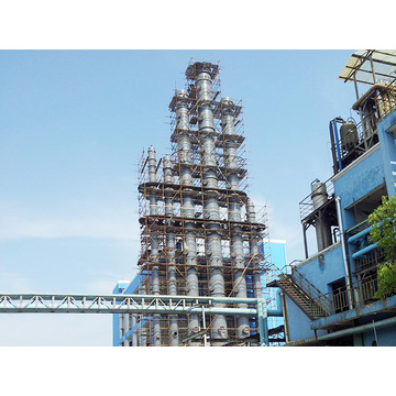 Kettle methanol distillation tower