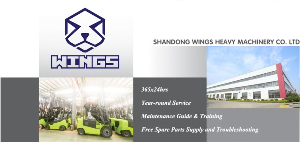 WINGS HEAVY MACHINERY-electric forklift