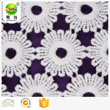 new arrival cotton embroidery textile lace dress fabric