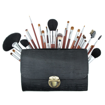 vegan flat makeup private label brushes bag