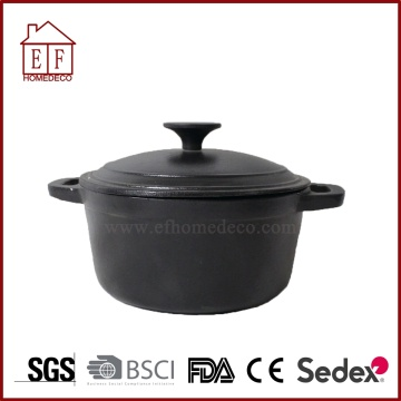 Cast iron casserole with vegetable oil
