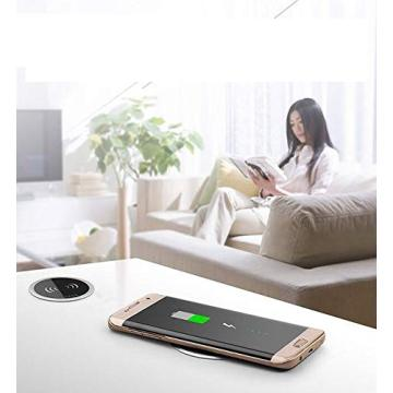 Desktop 10W Smart Wireless Charging Pad iphone Samsung