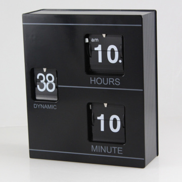 Black Book Flip Clock for Decorating