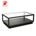 Wooden Glass Center Table For Sale