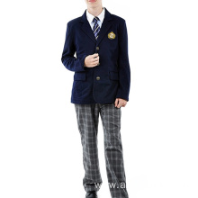 school student uniform boys blazer plaid long pants