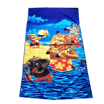 Terry Soft Blue Beach Towel