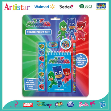 PJMASKS blue stationery set