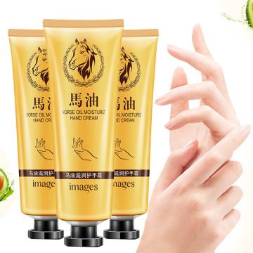 Horse Oil Repair Hand Cream Anti-aging Soft Skin Whitening Prevention Dry Nourishing Hand Cream Lotion Skincare 30g IMAGES TSLM1