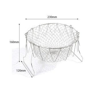 Deep Fry Boiling Steel foldable Chef frying baskets