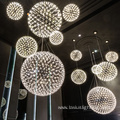 Modern design custom coffee shop led chandelier lamp