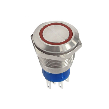 IP67 Rating Moveable Ring Illuminated Push Button Switch