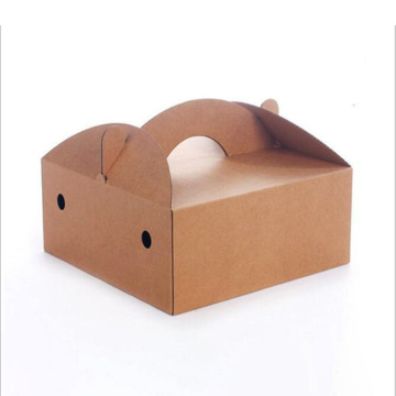Handmade corrugated paper cake packaging handing box