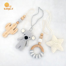 Handmade Smooth Wooden Baby Hanging Toy