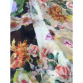 Colorfu 100% Polyester Galaxy Printed Chiffon Dress Fabric