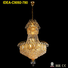 gold vintage chandelier crystal lighting