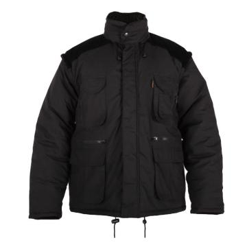 Black Winter Bodywamer Jacket