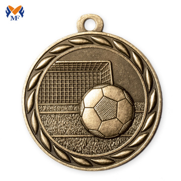 Sports engraving gold silver bronze metal soccer medals