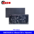 Free Shipping Indoor P6 LED Screen Panel Module 192*96mm 32*16Pixels 1/8 Scan SMD3528 RGB Full Color LED Display Module