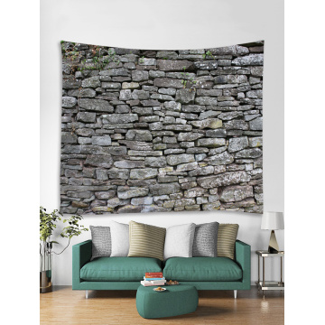 Brick Wall Tapestry Grey Stone Tapestry Wall Hanging Vintage Tapestry Polyester Print for Livingroom Bedroom Home Dorm Decor