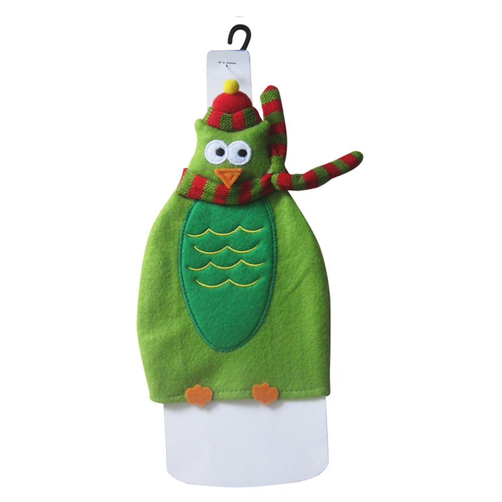 Christmas Owl Wine Bottle Cover