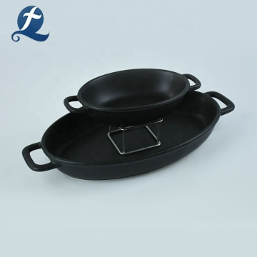 Custom black ceramic bakeware set