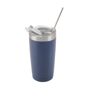 Travel Coffee Mug with Straw